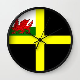 Flag of Saint David Wall Clock