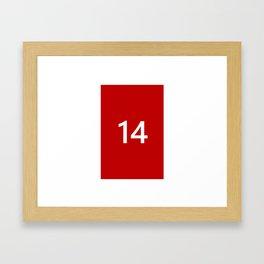Legendary No. 14 in red and white Framed Art Print