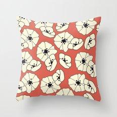 Retro bloom 004 Throw Pillow