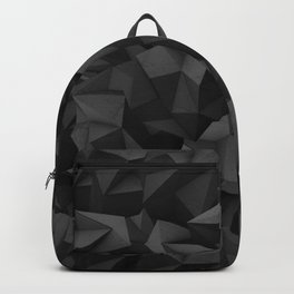 Black Polygon Texture Backpack