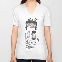 sewing V-neck T-shirts featuring Sewing lessons by Fiorella Modolo