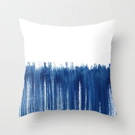 Indigo Abstract Brush Strokes | No. 5 Throw Pillow