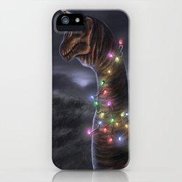 Brachiosaurus Christmas Tree iPhone Case