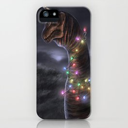Brachiosaurus Christmas Tree iPhone Case