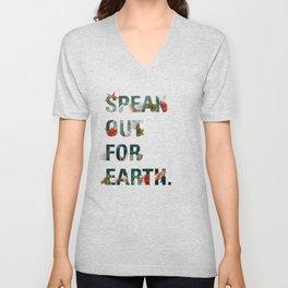 Speak Out for Earth! (Oceans) Unisex V-Neck
