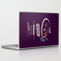 risa rodil Laptop & iPad Skins featuring Time and Space by Risa Rodil