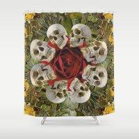 western Shower Curtains featuring WESTERN SKULLS by Gloria Sanchez Artist