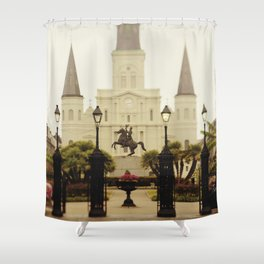 New Orleans Looking Through Jackson Square Shower Curtain