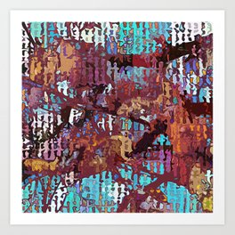 Multicolored nature abstract Art Print