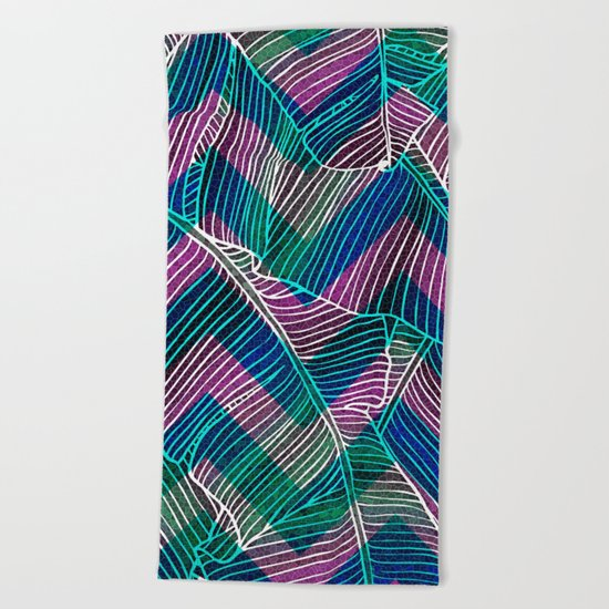 Foliage Pattern Beach Towel
