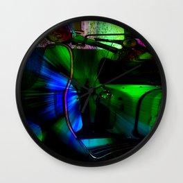 Vespa Neon Blue classico Wall Clock
