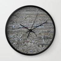 palestine Wall Clocks featuring Jerusalem Palestine by Sanchez Grande