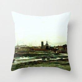 Charles-Francois Daubigny - Dieppe - Digital Remastered Edition Throw Pillow