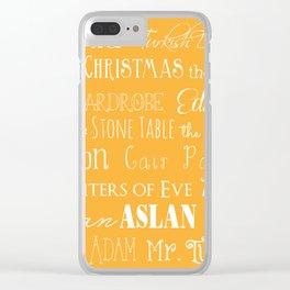 Narnia Celebration - Marigold Clear iPhone Case