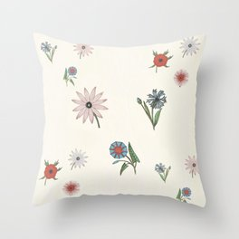 The gift of flowering blooms Throw Pillow
