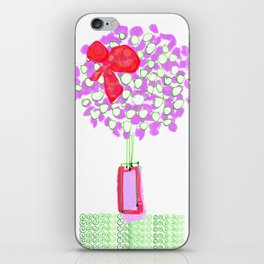 Flower Tree with Bow iPhone Skin