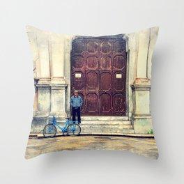 Trapani art 25 Throw Pillow