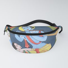krishna radha with cow Fanny Pack