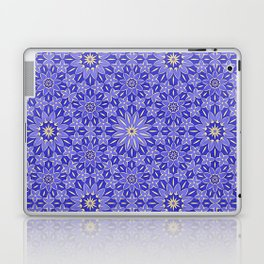 Rings of Flowers - Color: Royal Blue & Gold Laptop & iPad Skin