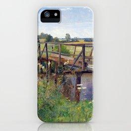 Hugo Darnaut Summer Landscape with Bridge iPhone Case