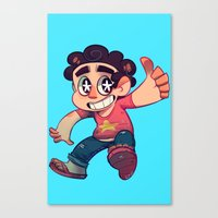 steven universe Canvas Prints featuring Steven Universe by lemonteaflower