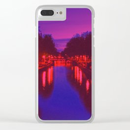 Psychedelic Amsterdam Clear iPhone Case