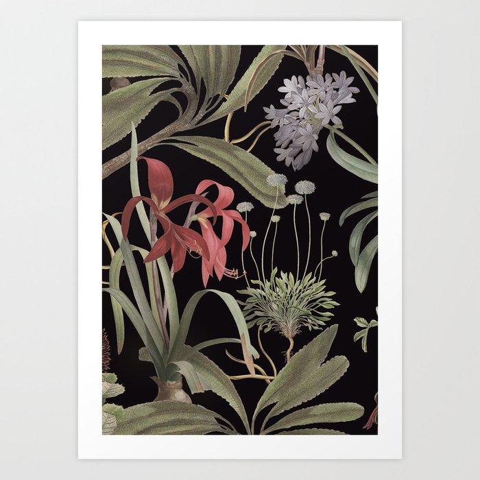 Dark Botanicals (pillow variant) Art Print