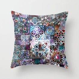 Celestial Tile Pattern Throw Pillow