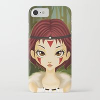 mononoke iPhone & iPod Cases featuring Mononoke by Paz Huichaman