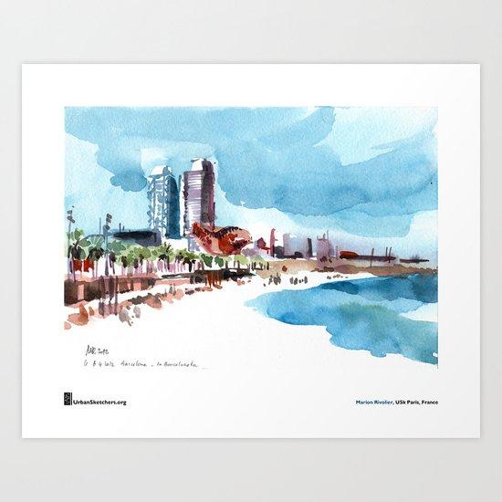 "Marion Rivolier, ""Barceloneta"" Art Print"