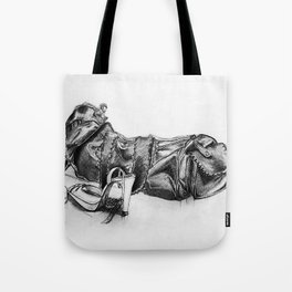 hand drawn shoes Tote Bag