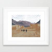 western Framed Art Prints featuring Western by J Will Morrison Design