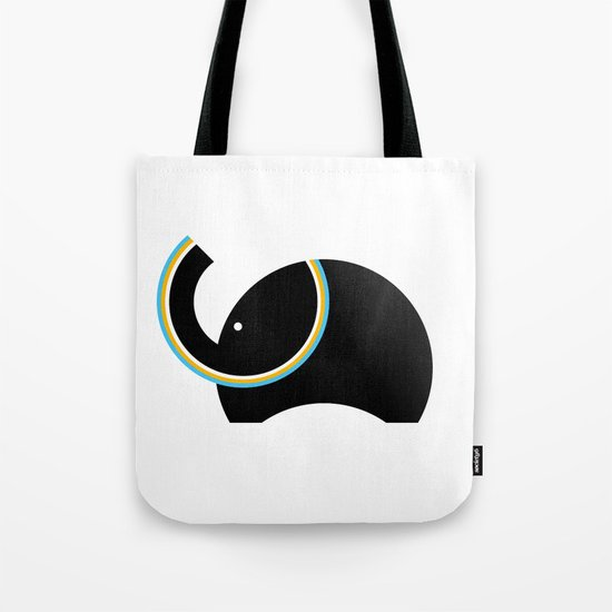Retro Elephant Tote Bag