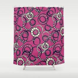 Honolulu hoopla pink Shower Curtain