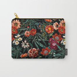 Marijuana and Floral Pattern Carry-All Pouch
