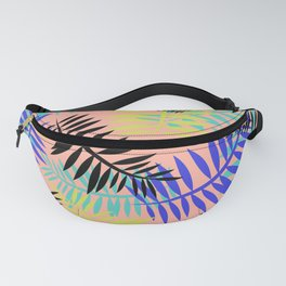 Tropical Ferns Coral Fanny Pack