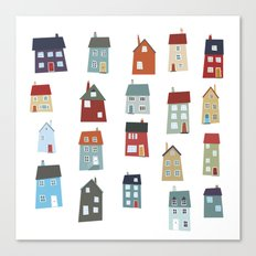 Little Houses Canvas Print
