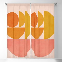 Abstraction_Summer_Color_Minimalism_001 Blackout Curtain