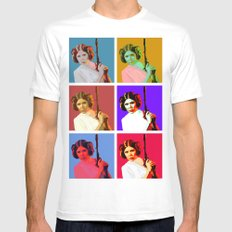 Popart Leia from Star Wars Episode 4 Mens Fitted Tee LARGE White