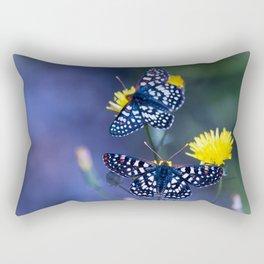The Checkerspot Couple Rectangular Pillow