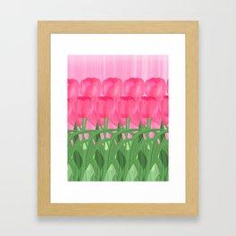 Tulip garden Framed Art Print