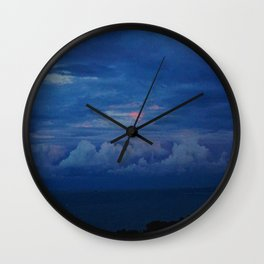 Painted Sky at Dusk (Chicago Sunrise/Sunset Collection) Wall Clock