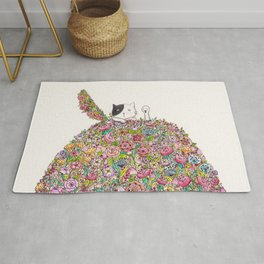 Cat and Duck Rug