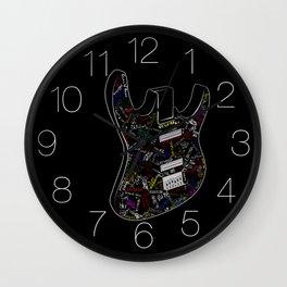 Guitar of fame: Drawing version Wall Clock