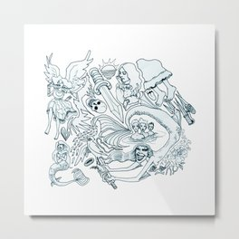 The Little Mermaid (Wonderful Mess Series) Metal Print