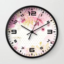 Modern Glam Chic Flowers #2 Wall Clock