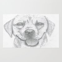 labrador Area & Throw Rugs featuring Labrador by Malgorzata Zabawa