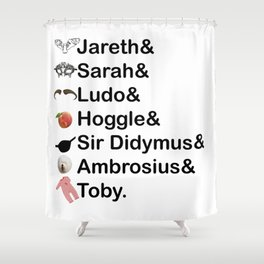 Labyrinth Names Shower Curtain