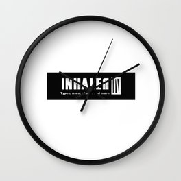 Inhaler; Part 1: white chapter. Wall Clock
