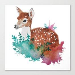 Deer Art Print Canvas Print